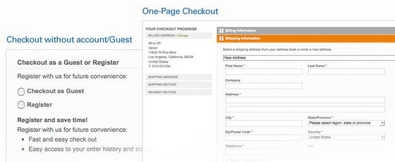 Magento features Checkout